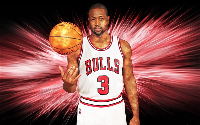 Dwyane Wade Chicago Bulls-2016 Basketball Star Poster Wallpaper Views:1512