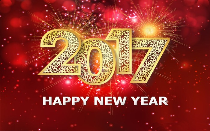 Happy New Year 2017 HD Holiday Desktop Wallpaper Views:5488