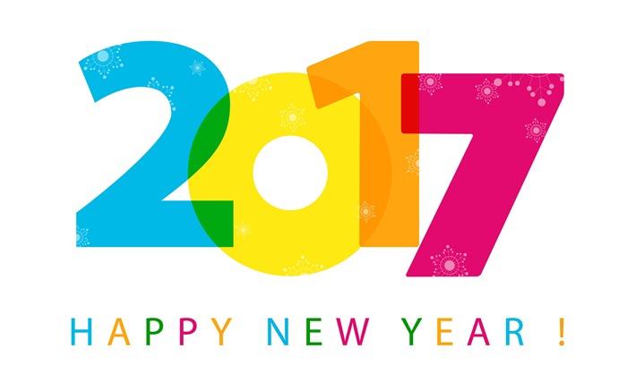 Happy New Year 2017 HD Theme Fonds d'écran Fond d'écran ...