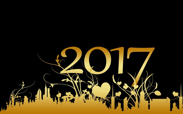 Happy New Year 2017 HD Theme Desktop Wallpaper 14 Views:1627