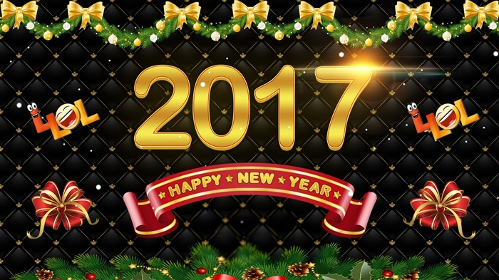 Happy New Year 2017 HD Theme Desktop Wallpaper 15 Views:1258