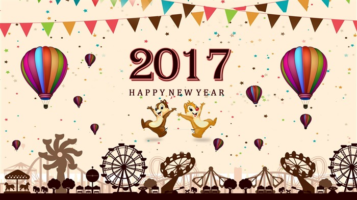Happy New Year 2017 HD Theme Desktop Wallpaper 17 Views:905