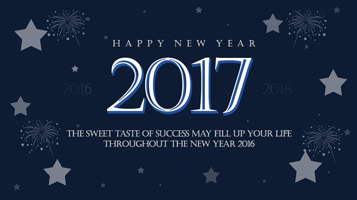 Happy New Year 2017 HD Theme Desktop Wallpaper 20 Views:859