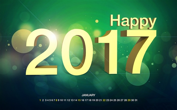 January 2017 Calendar Desktop Themes Wallpaper Views:12969