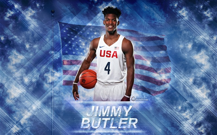 Jimmy Butler-2016 Basketball Star Poster Wallpaper Views:1616