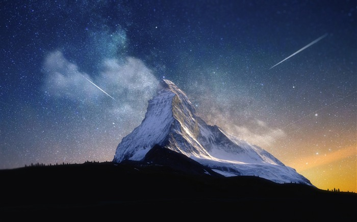 Milky way mountain-Nature High Quality HD Wallpaper Views:2100