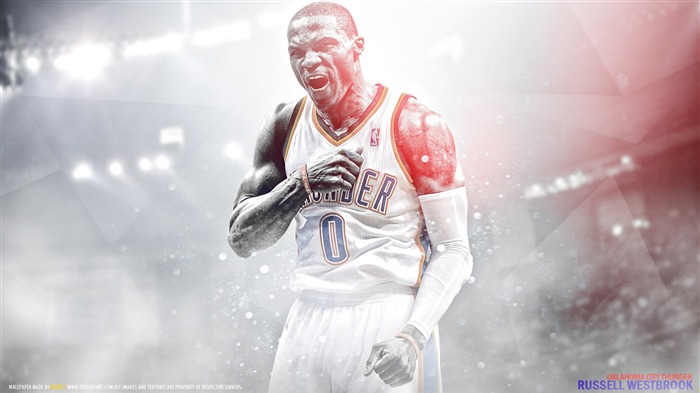 Russell Westbrook-2016 Basketball Star Poster Wallpapers Views:1418