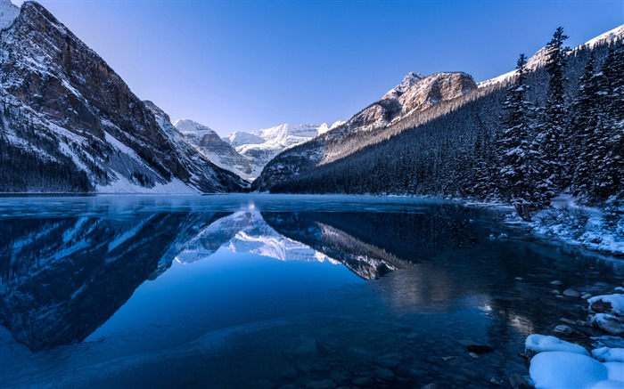 Snow mountains lakes-Nature High Quality HD Wallpaper Views:1964