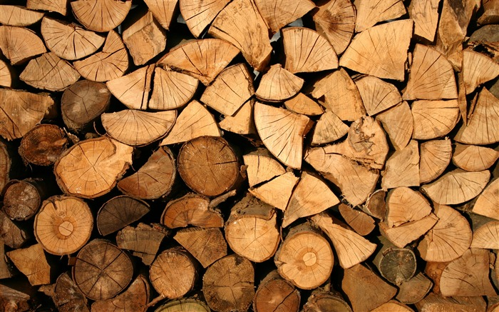 Brown firewood close-up-Life Photography HD Wallpaper Views:1305
