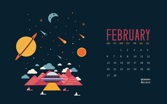In Another Place At The Same Time-February 2017 Calendar Wallpaper Views:1632