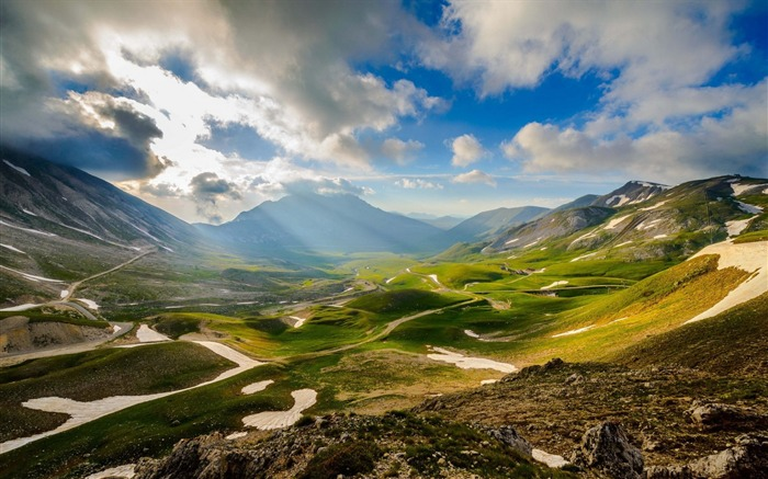 Mountains italy sky valley-Scenery HD Wallpaper Views:1319