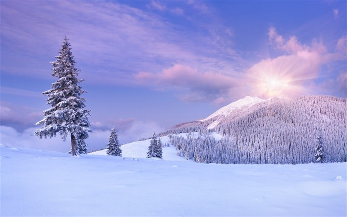 Mountains snow winter clouds-Scenery HD Wallpaper Views:773