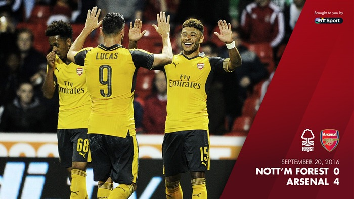 Nottingham Forest 0-4 Arsenal-2016-2017 Arsenal Club Wallpaper Views:475
