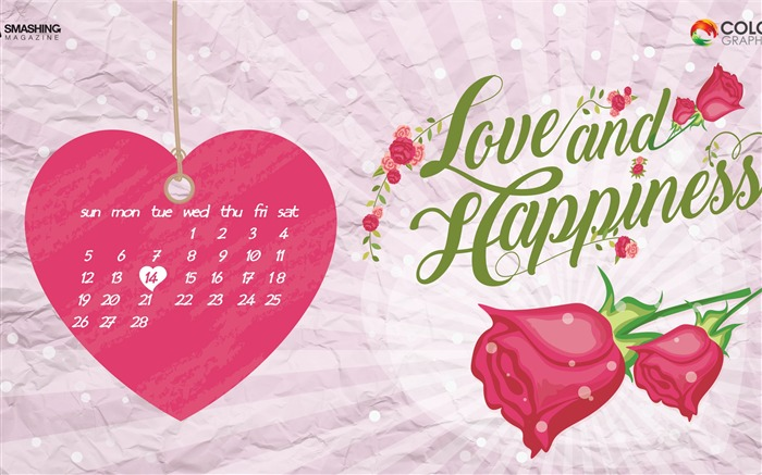 The Day Of Love-February 2017 Calendar Wallpaper Views:813