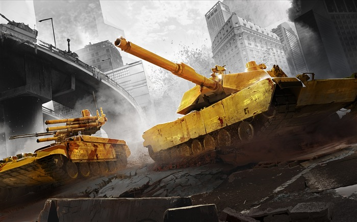 Armored warfare city battle-2017 Game HD Wallpaper Views:1380