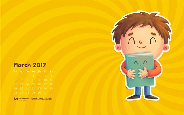 Best Friend-March 2017 Calendar Wallpaper Views:2007