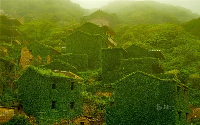 China The abandoned village Island-2017 Bing Desktop Wallpaper Views:1313