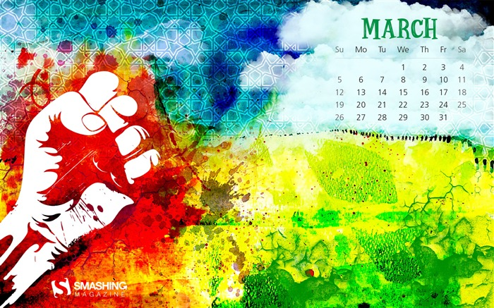 Freedom In March-March 2017 Calendar Wallpaper Views:2022