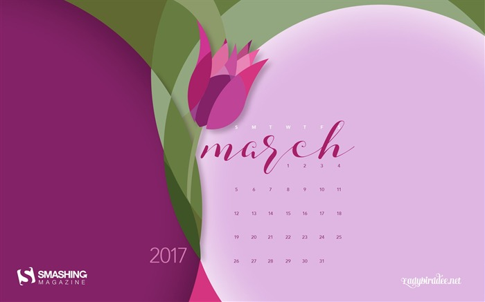 It Just Blooms-March 2017 Calendar Wallpaper Views:1773