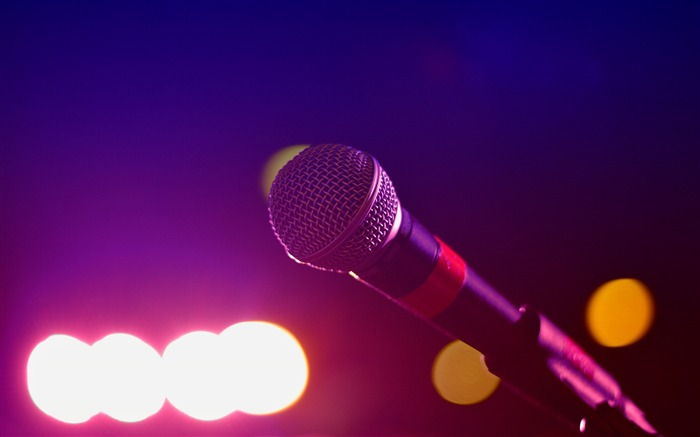Lights mic microphone music-Life Close-up Photo HD Wallpaper Views:1139