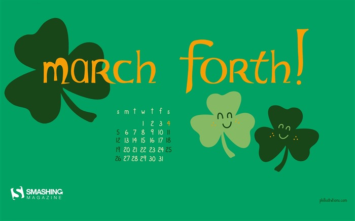 March Forth-March 2017 Calendar Wallpaper Views:1974