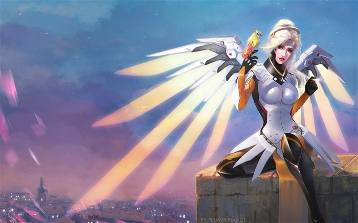 Mercy overwatch artwork-2017 Game HD Wallpaper Views:1392