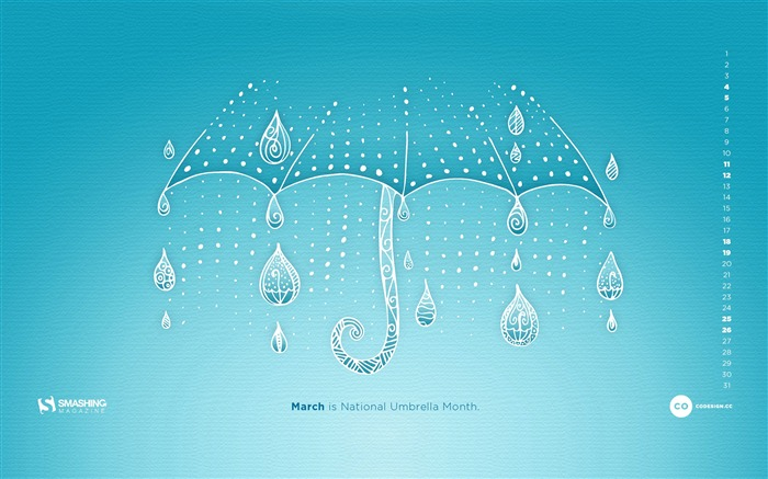 Rain Rain Dont Go Away-March 2017 Calendar Wallpaper Views:2238