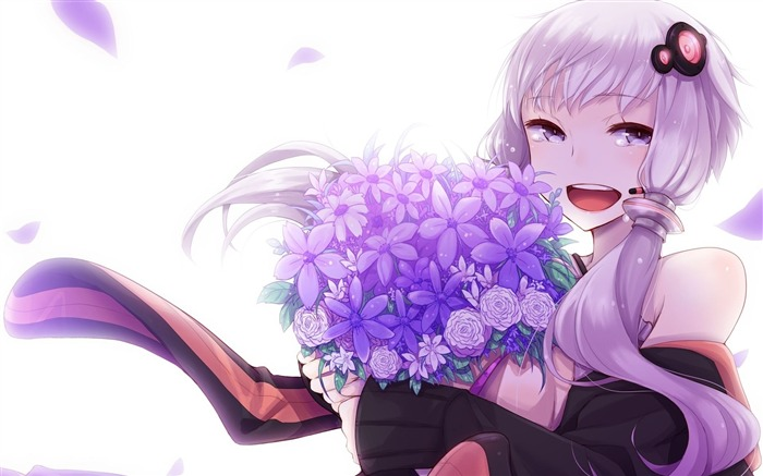 Vocaloid art girl flowers-2016 Anime HD Wallpaper Views:479
