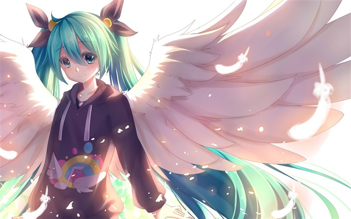 Vocaloid girl hatsune miku wings-2016 Anime HD Wallpaper Views:872
