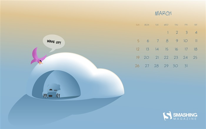Wake Up-March 2017 Calendar Wallpaper Views:1312