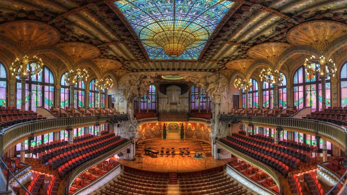 Barcelona Spain Catalonia Concert Hall-2017 Bing Desktop Wallpapers Views:1045