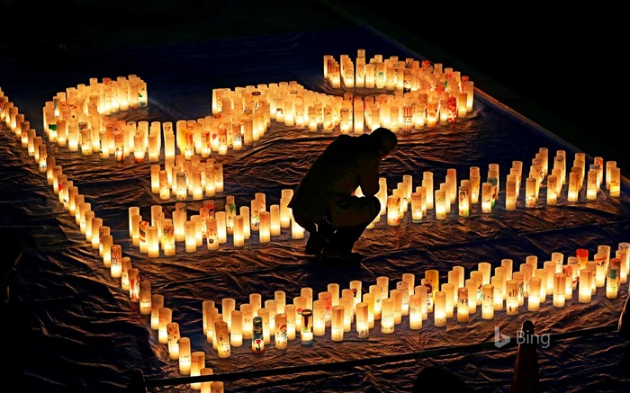 Candles for the Great East Japan Earthquake Memorial-2017 Bing Desktop Wallpaper Views:991