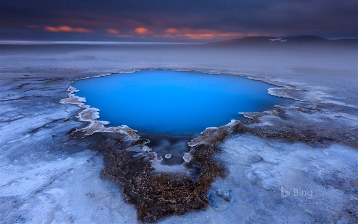 Iceland Hveravellir hot spring plateau-2017 Bing Desktop Wallpaper Views:1094
