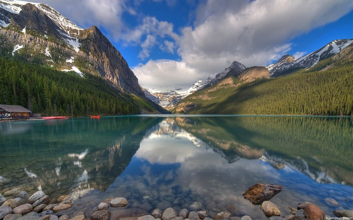 Morning lake banff alberta canada-Windows 10 Desktop Wallpaper Views:1332