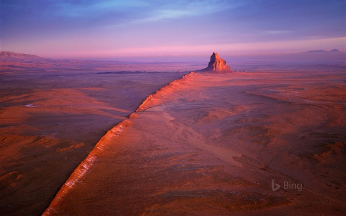 Shiprock in the Navajo Nation of New Mexico -2017 Bing Desktop Wallpaper Views:776