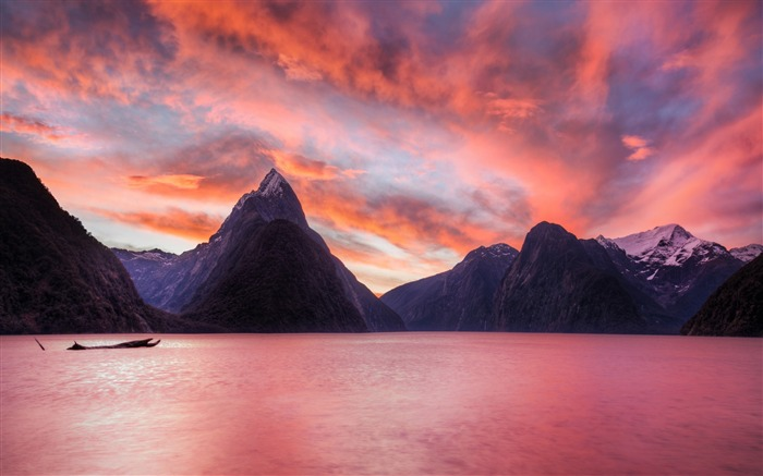 New zealand fjord fiordland national park-Nature Scenery Wallpaper Views:1686