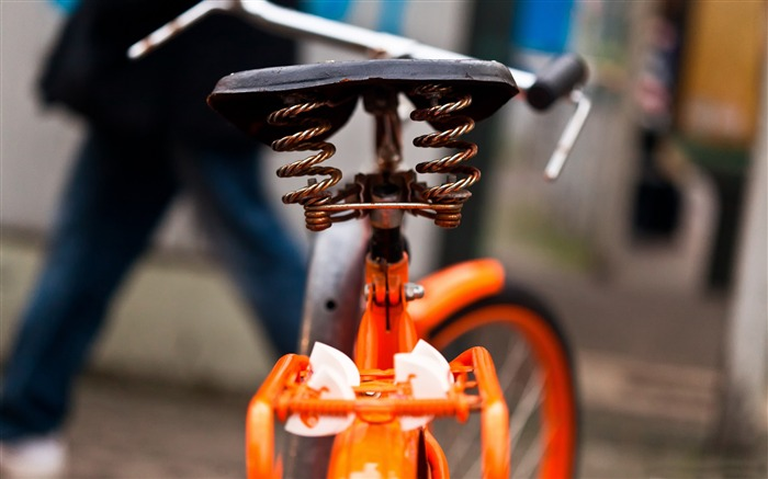 Orange bicycle closeup-Vintage Themed Wallpaper Views:2358 Date:4/2/2017 3:16:57 AM