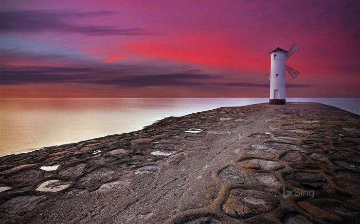 Poland Stawa Mlyny beacon in Swinoujscie-2017 Bing Desktop Wallpaper Views:356
