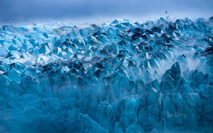 Raullu Glacier USA Alaska-2017 Bing Desktop Wallpaper Views:999