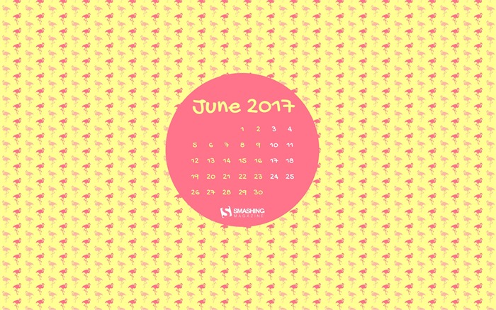 Flamin Good Vibes Only-June 2017 Calendar Wallpaper Views:1296