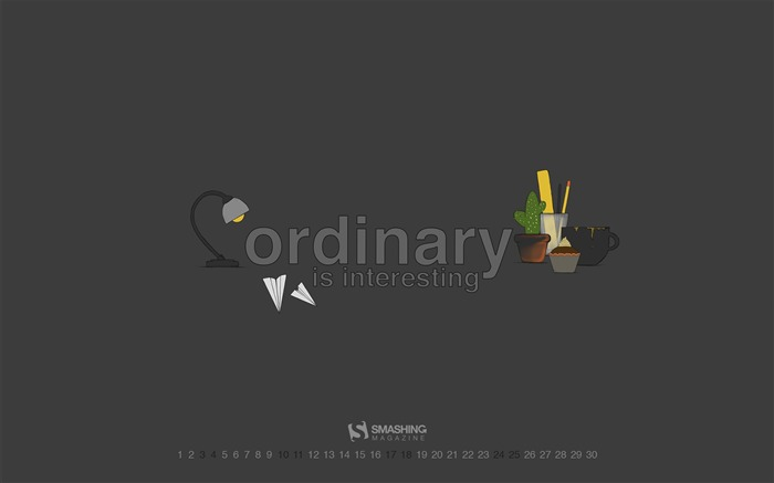 Ordinary Is Interesting-June 2017 Calendar Wallpaper Views:1213
