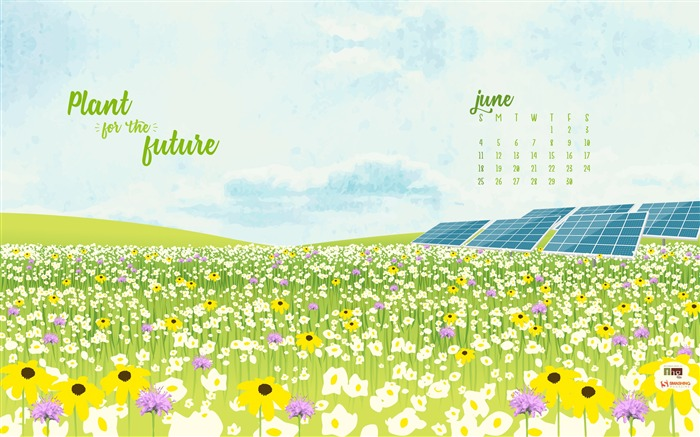 Plant For The Future-June 2017 Calendar Wallpaper Views:1265
