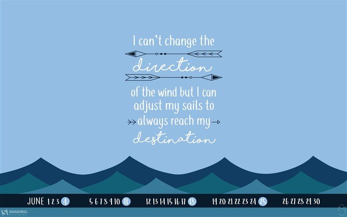 Sailors Quote-June 2017 Calendar Wallpaper Views:1193