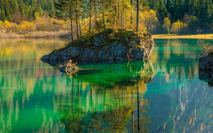Scenic view of lake in forest-Scenery High Quality Wallpaper Views:4310 Date:5/24/2017 5:14:41 AM