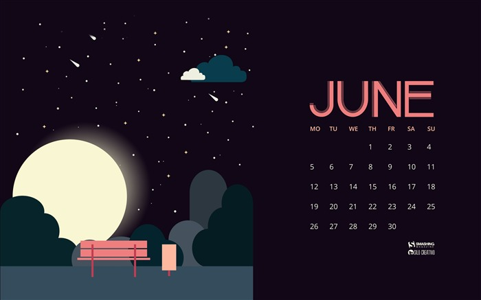 Summer Nights-June 2017 Calendar Wallpaper Views:1170