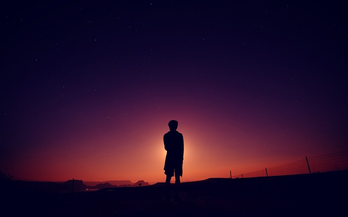 Silhouette sky night-High Quality Wallpaper Views:644