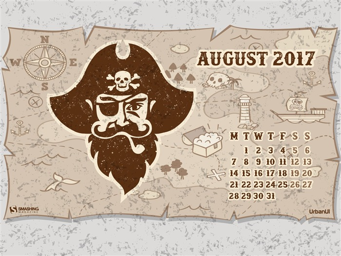 Are You Ready For The Adventure-August 2017 Calendar Wallpaper Views:1149