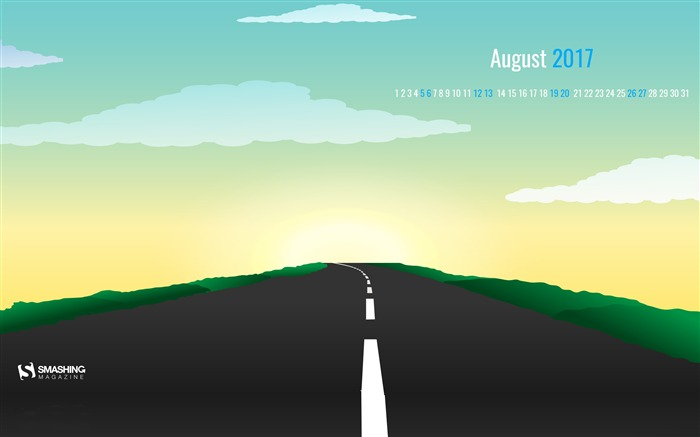 On The Road-August 2017 Calendar Wallpaper Views:572