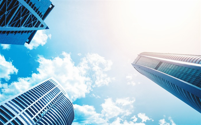 Architecture blue sky buildings-Life HD Wallpaper Views:697