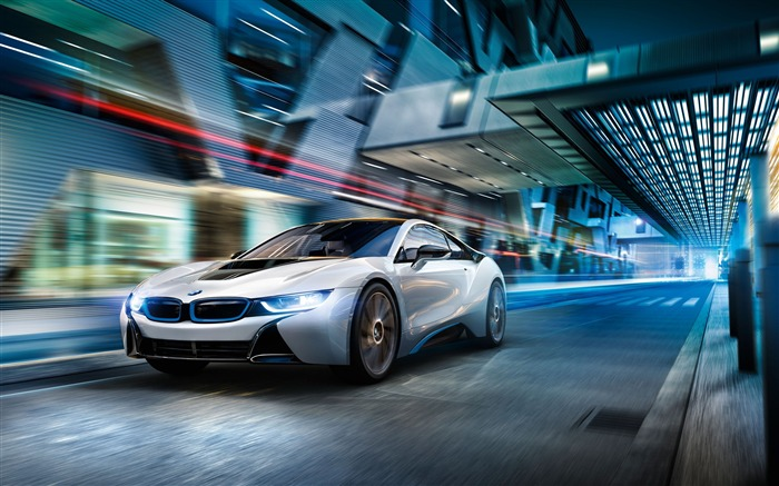 BMW i8 White-2017 High Quality Wallpaper Views:540